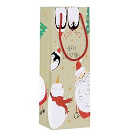 Shopper regalo HAPPY CHRISTMAS 12x35x10cm Kartos