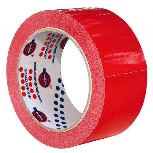 NASTRO DA IMBALLO COLORATO    PVC 50MMX66MT ROSSO, PVC 350