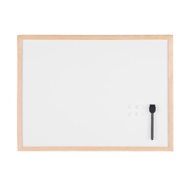 45 x 60 cm Lavagna bianca magnetica Nobo con cornice in alluminio
